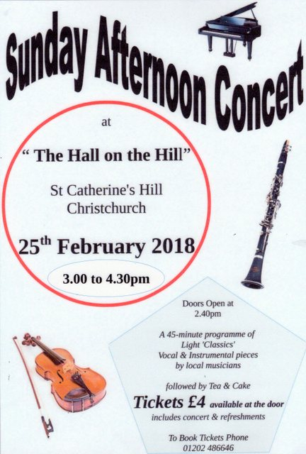 Concert 25th Feb
