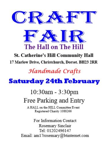 Craft Fair 24th Feb